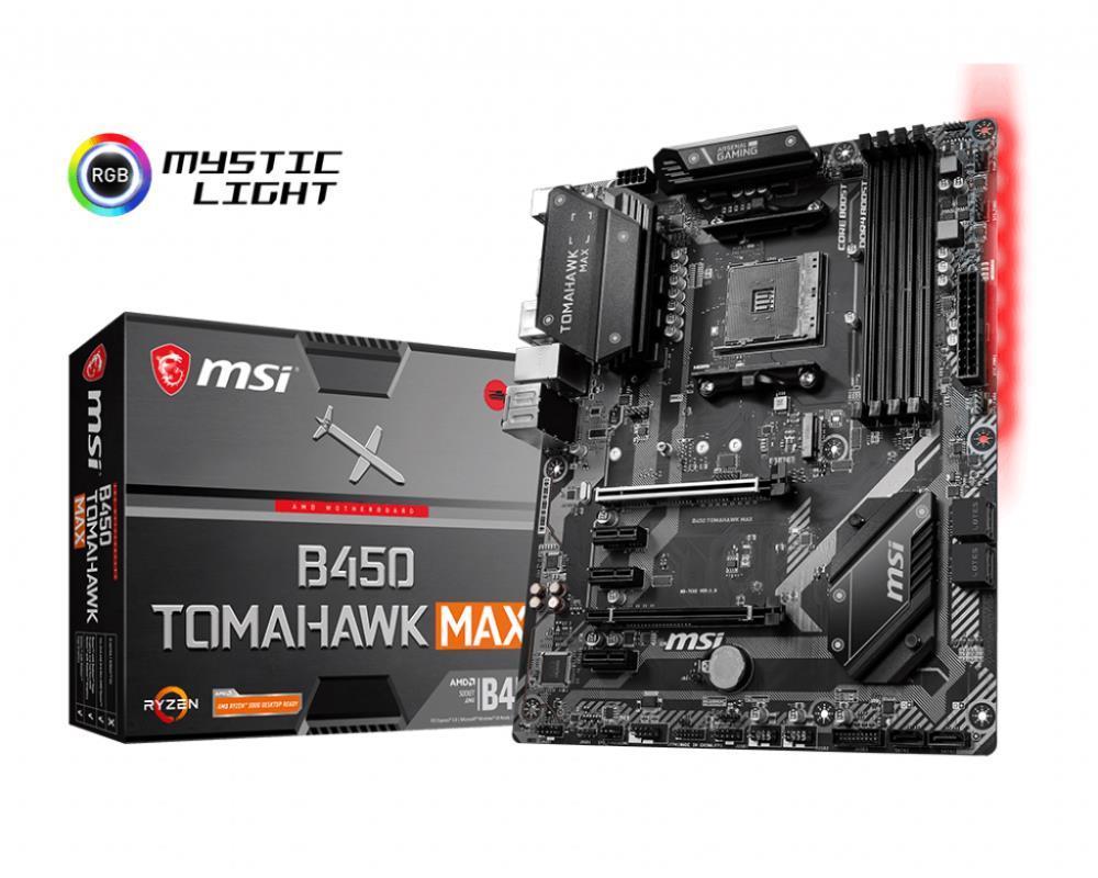 Mainboard|MSI|AMD B450|SAM4|ATX|3xPCI-Ex..
