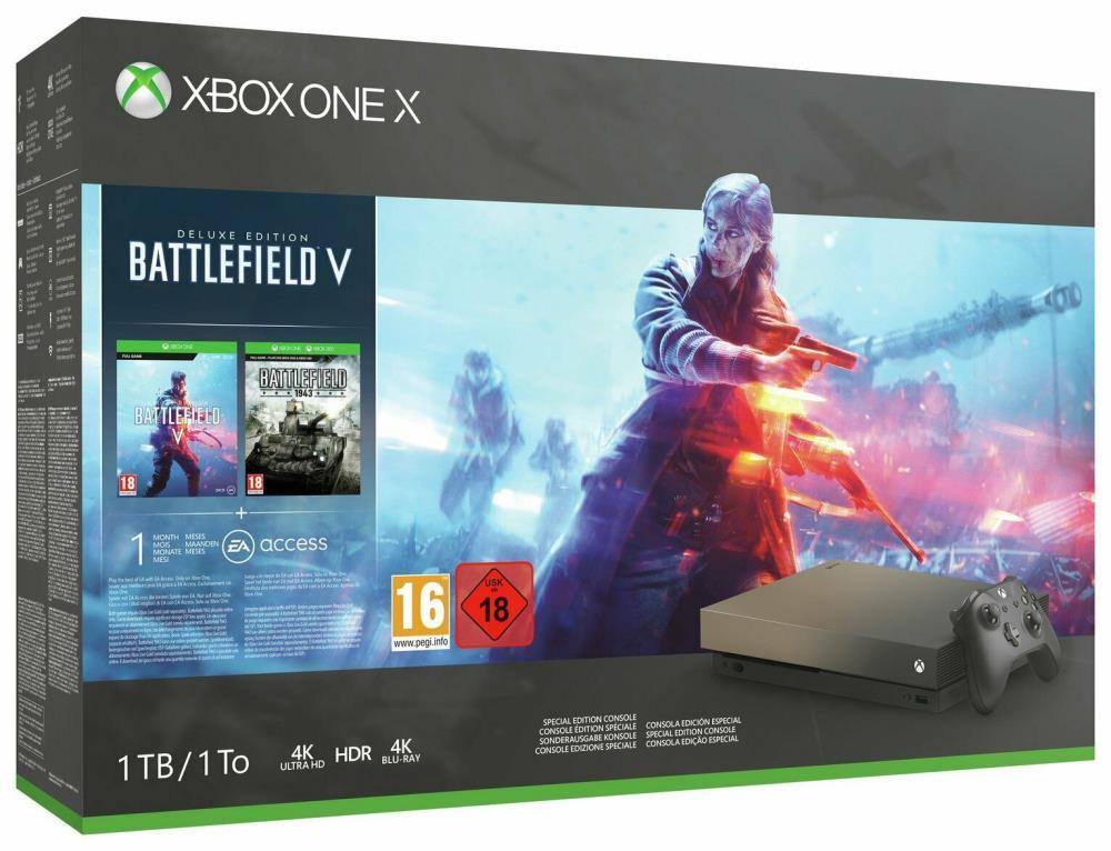 CONSOLE XBOX ONE X 1TB/GAME BATTLEFIELD 5 MICROSO..