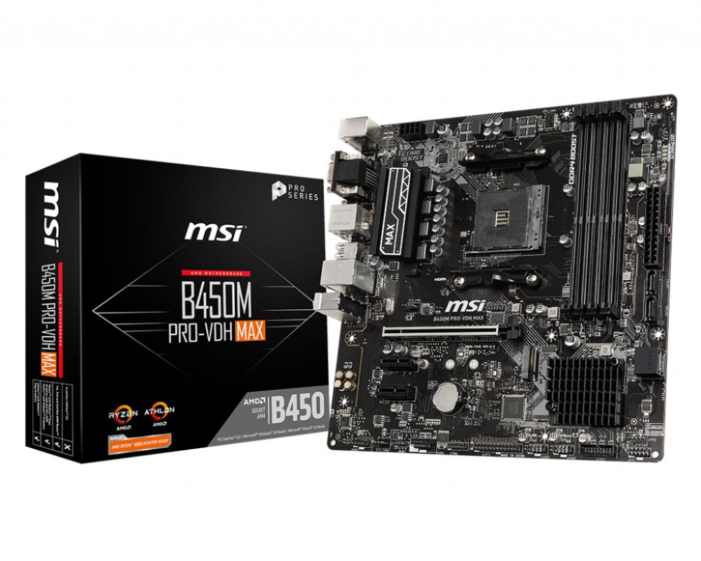 Mainboard|MSI|AMD B450|SAM4|MicroATX|2xP..