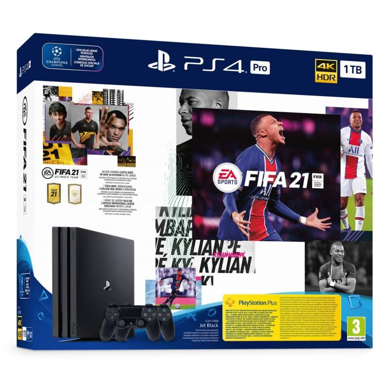 PLAYSTATION 4 CONSOLE 1TB PRO/FIFA 21/ 2ND DUALSH..