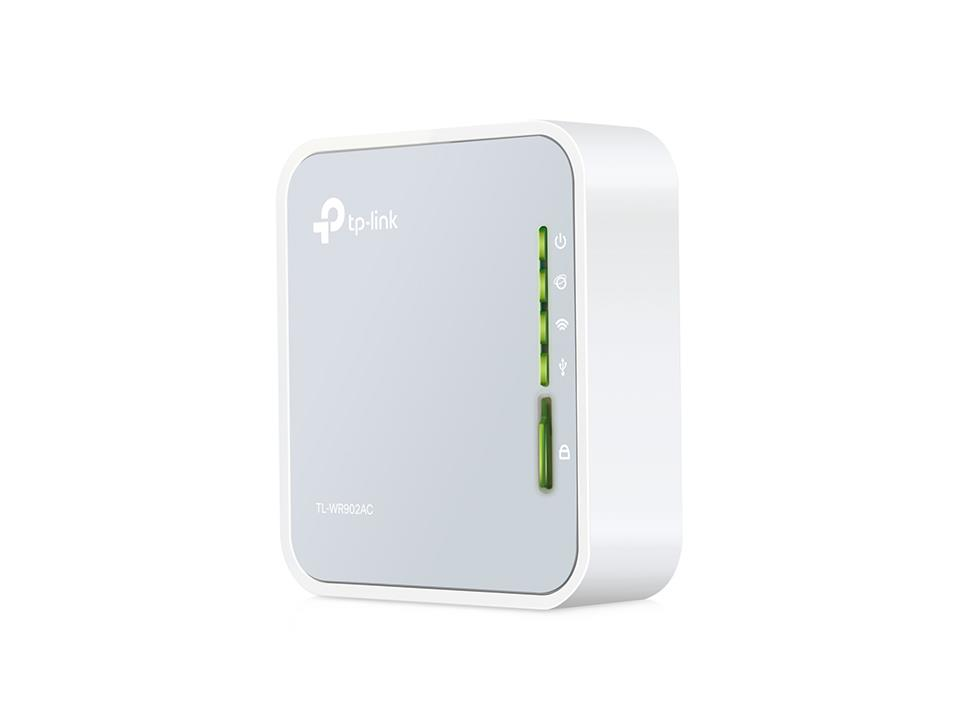 Wireless Router   TP-LINK   Wireless Router   733 Mbps   IEEE 802.11a   IEEE 802.11 b/g   IEEE 802.11n   IEEE 802.11ac   USB 2.0   1x10/100M   TL-WR902AC