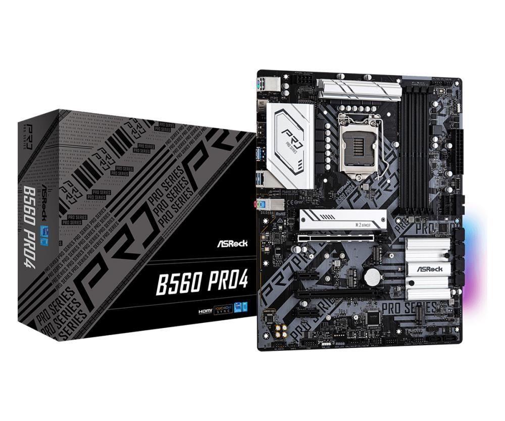 Mainboard | ASROCK | Intel B560 | LGA1200 | ATX | 2xPCI-Express 3.0 1x | 1xPCI-Express 3.0 16x | 1xPCI-Express 4.0 16x | 3xM.2 | Memory DDR4 | Memory slots 4 | 1xHDMI | 1xDisplayPort | 2xAudio-In | 1xAudio-Out | 2xUSB 2.0 | 4xUSB 3.2 | 1xPS/2 | 1xRJ45 | B