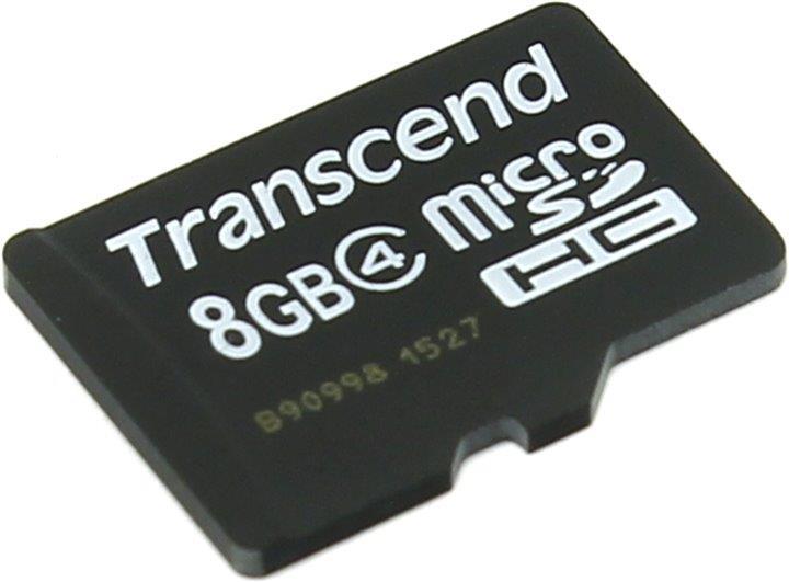 MEMORY MICRO SDHC 8GB CLASS4 TS8GUSDC4 TRANSCEND