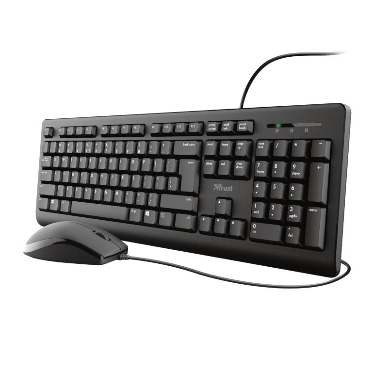 KEYBOARD +MOUSE OPT. TKM-250/23975 TRUST