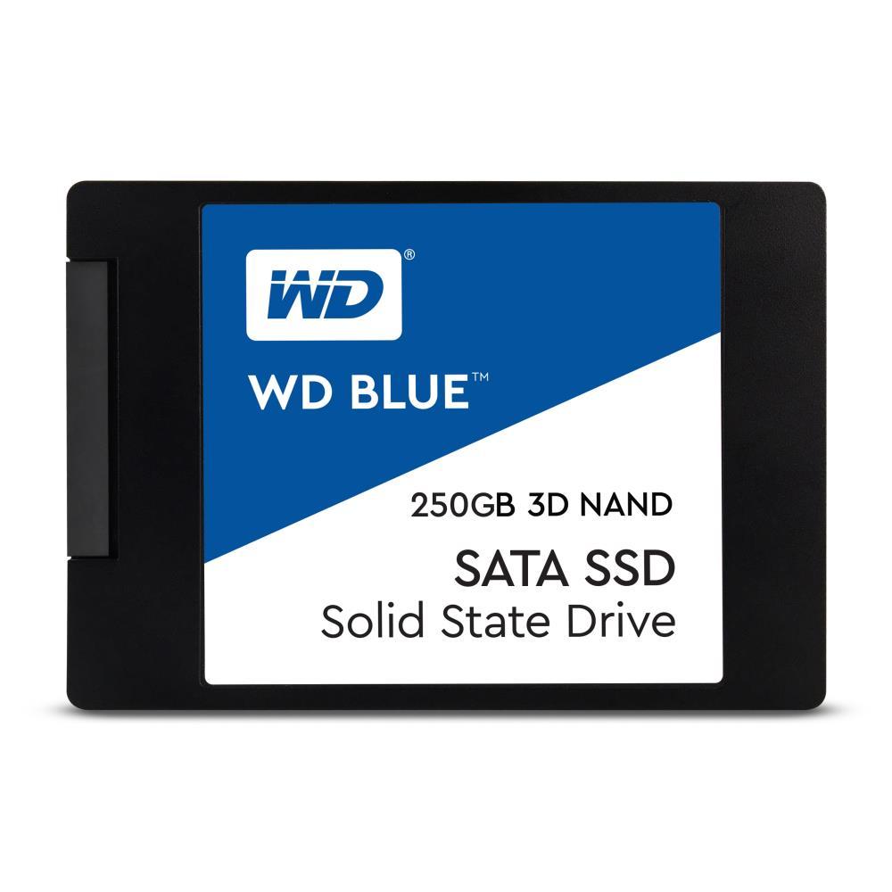 SSD | WESTERN DIGITAL | Blue | 250GB | SATA 3.0 | TLC | Write speed 525 MBytes sec | Read speed 550 MBytes sec | 2,5 | MTBF 1750000 hours | WDS250G2B0A
