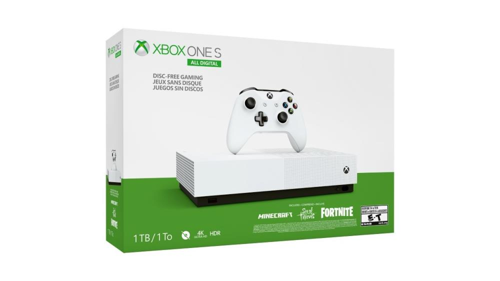CONSOLE XBOX ONE S 1TB WHITE/MINE/SEAOFTHIEV/FORT..