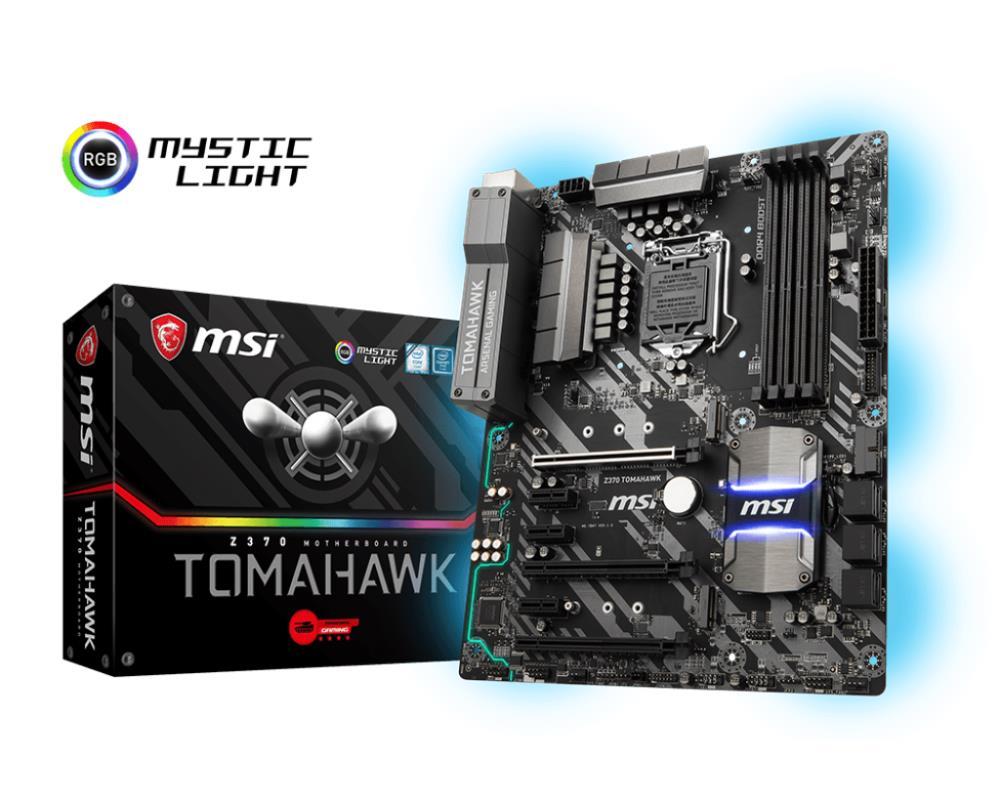Mainboard   MSI   Intel Z370 Express   LGA1151   ATX   3xPCI-Express 3.0 1x   3xPCI-Express 3.0 16x   2xM.2   Memory DDR4   Memory slots 4   1xDVI   1xHDMI   2xUSB 2.0   5xUSB 3.1   1xUSB type C   1xPS 2   1xOptical S PDIF   1xRJ45   5xAudio port   Z370TO
