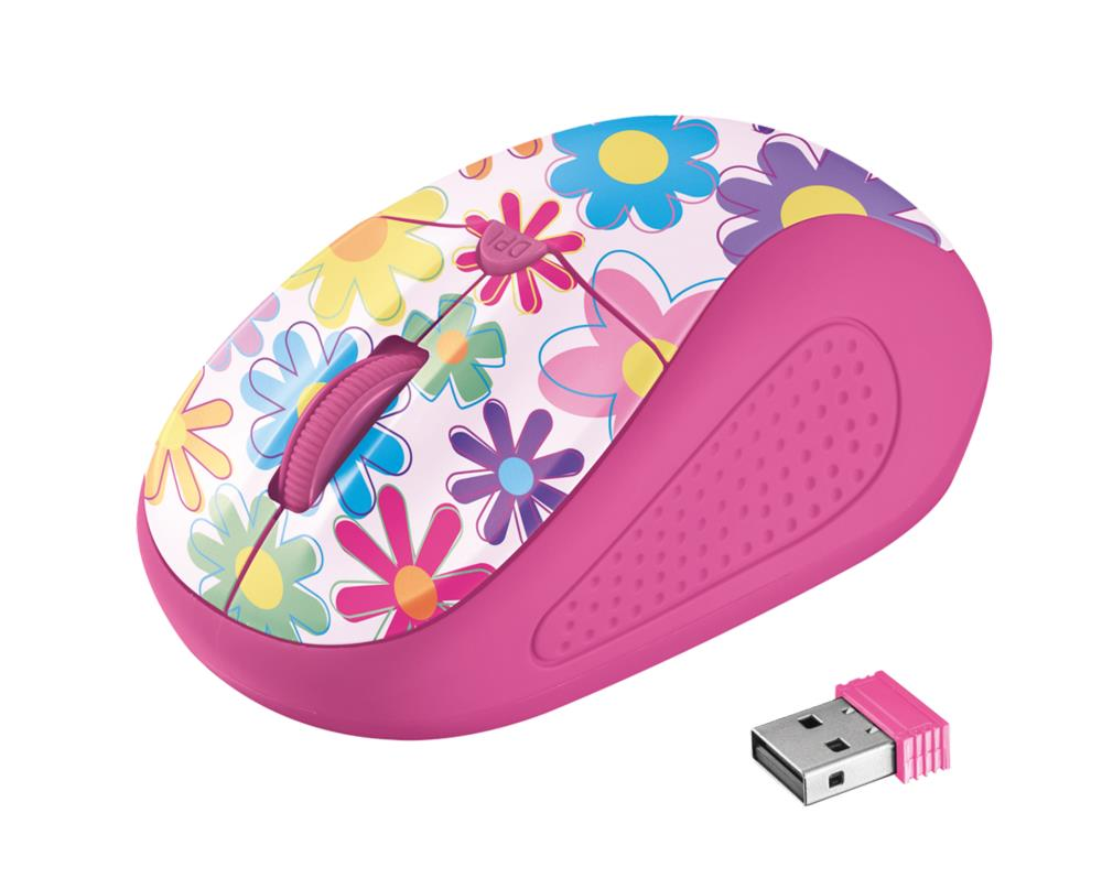 MOUSE USB OPTICAL WRL PRIMO/PINK FLOWER 21481 TRUS..