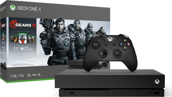 CONSOLE XBOX ONE X 1TB BLACK/GAME GEARS OF WAR 5 ..