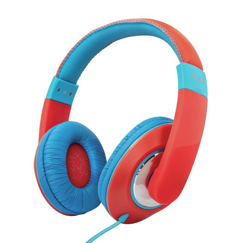 HEADPHONES SONIN KIDS RED/23585 TRUST