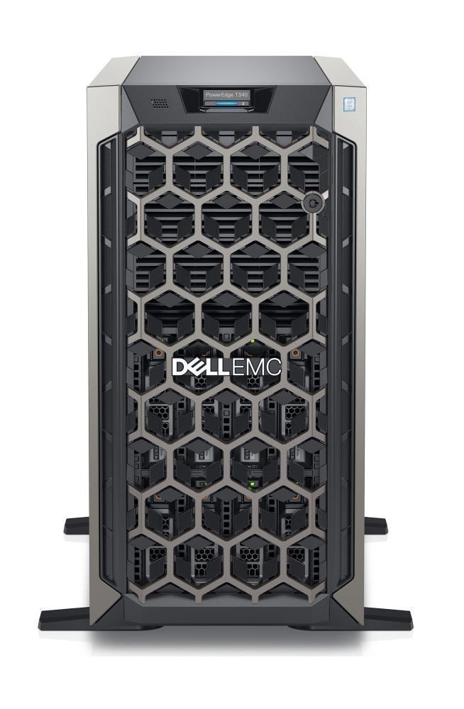 SERVER T340 E-2244G H330/8X3.5/495W/3Y SCS DELL