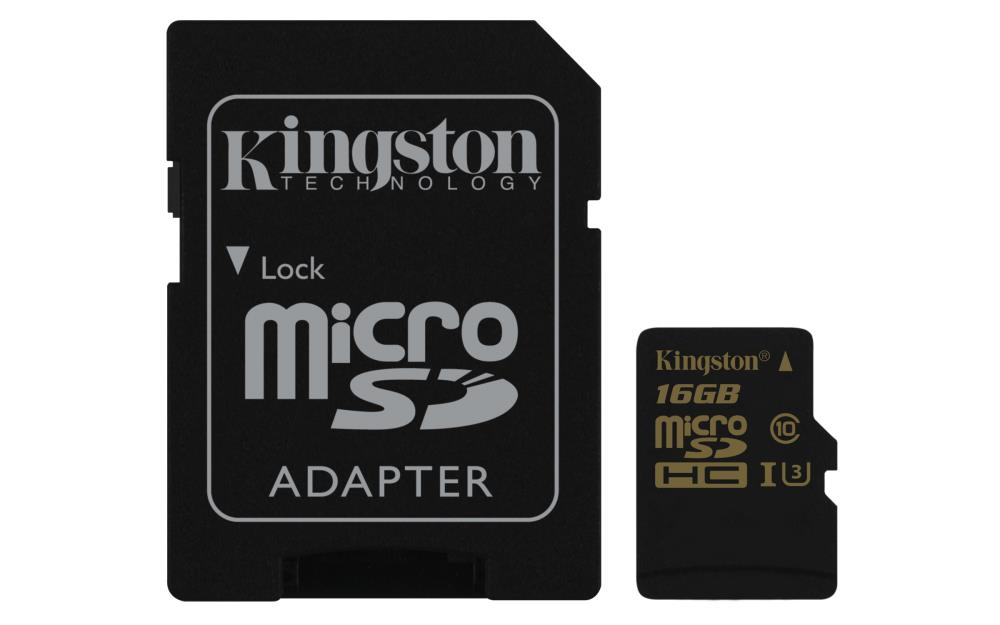 MEMORY MICRO SDHC 16GB UHS-3 W ADAPTER SDCG 16GB KINGSTON