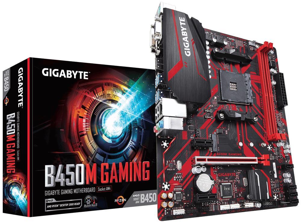 Mainboard|GIGABYTE|AMD B450|SAM4|MicroATX|2xPCI-E..