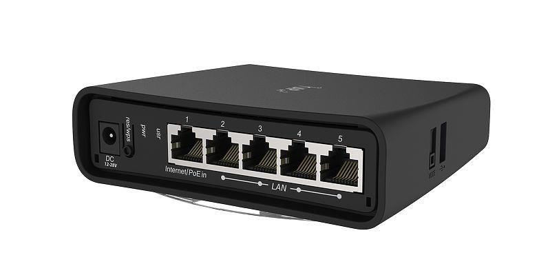 Wireless Router | MIKROTIK | Router | 5x10/100/1000M | RBD52G-5HACD2HND-TC