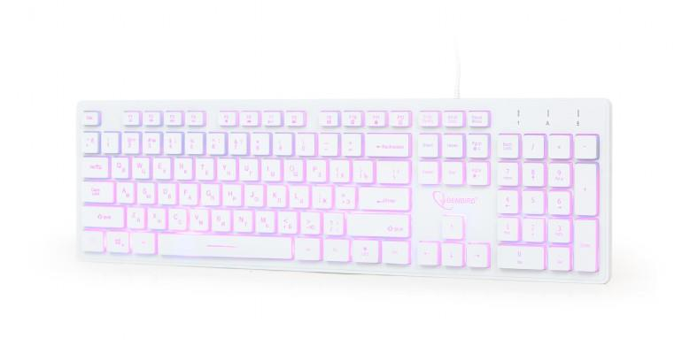 KEYBOARD MULTIMEDIA USB RUS/WHITE KB-UML..