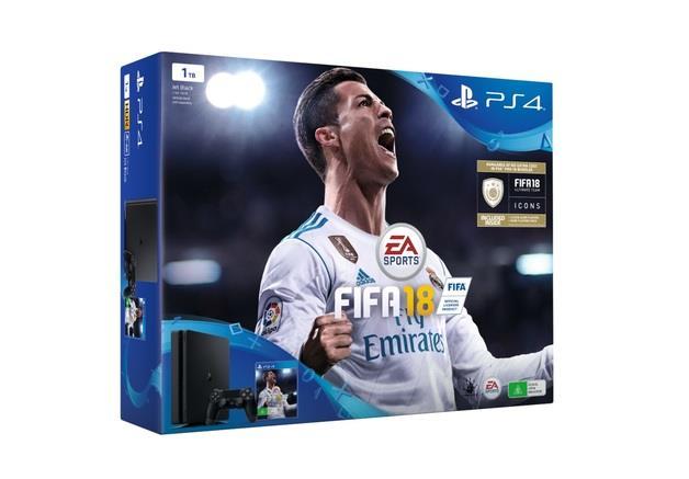 PLAYSTATION 4 CONSOLE 1TB SLIM 2 X DUALSHOCK FIFA 18 SONY