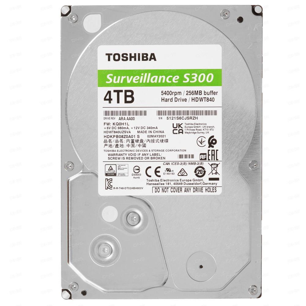HDD SATA 4TB 5400RPM 6GB/S/256MB HDWT840UZSVA TOSHIBA